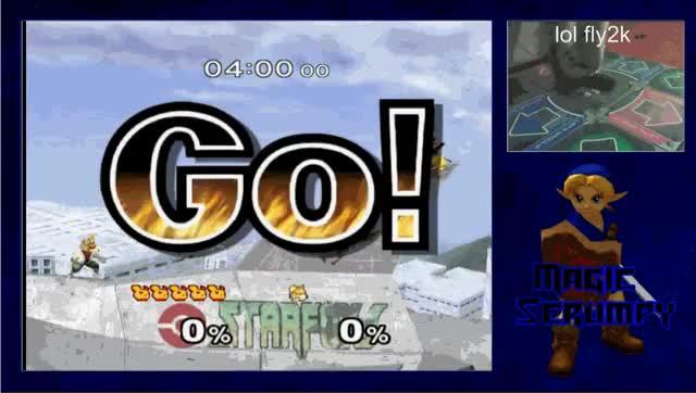MagicScrumpy vs Fox on a DDR pad