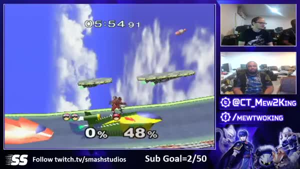 When Mew2King plays Falcon