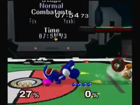 Leffen with a cute yoshi combo
