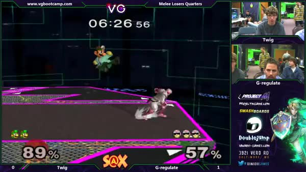 G-regulates reverse Falcon Punch gets teched.