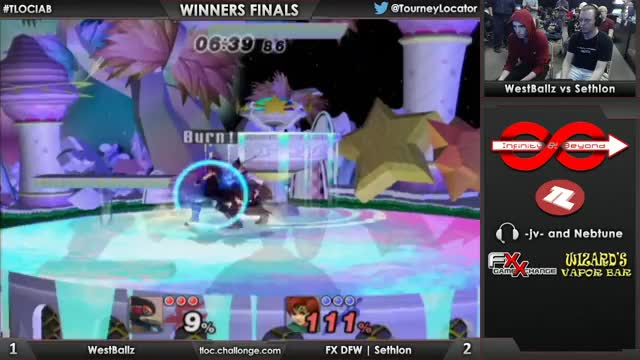 Sethlon converts on a failed edgegaurd by Westballz