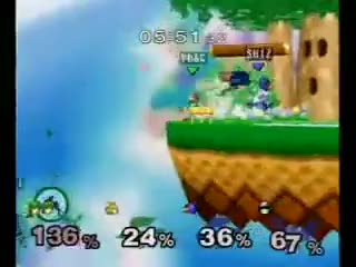 [Falco/Falcon] Ben gives Prog a double knee and a helping hand.