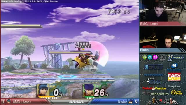 Leon (Marth) Edgeguards Ike