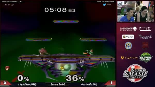 Ken's combo to take the last stock off Westballz, game 2, at SSS 27