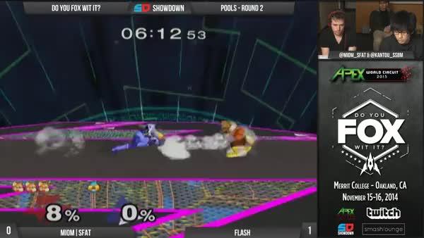 Flash's amazing combo at DYFWI (x-post from /r/smashbros)