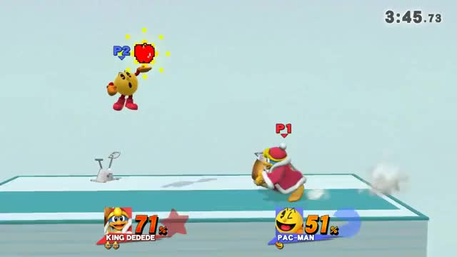 Sometimes it's best if Dedede does not get a hold of an item from the fruit roulette.