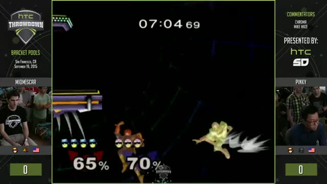 Scar with the stylish edgeguard showing why falcon's recovery sucks