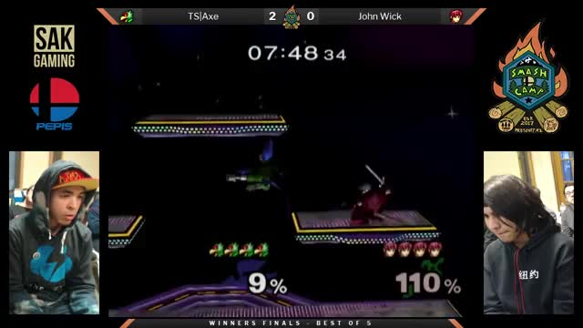 Axe with an insane Falco play