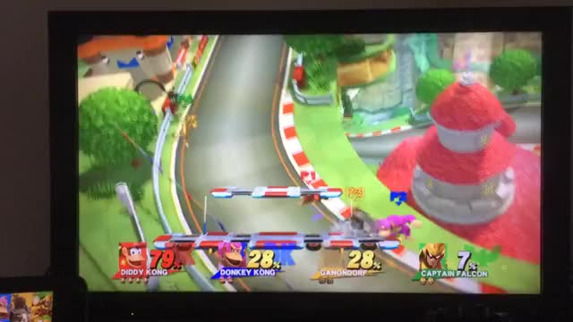 Diddy spiking DK through the stage