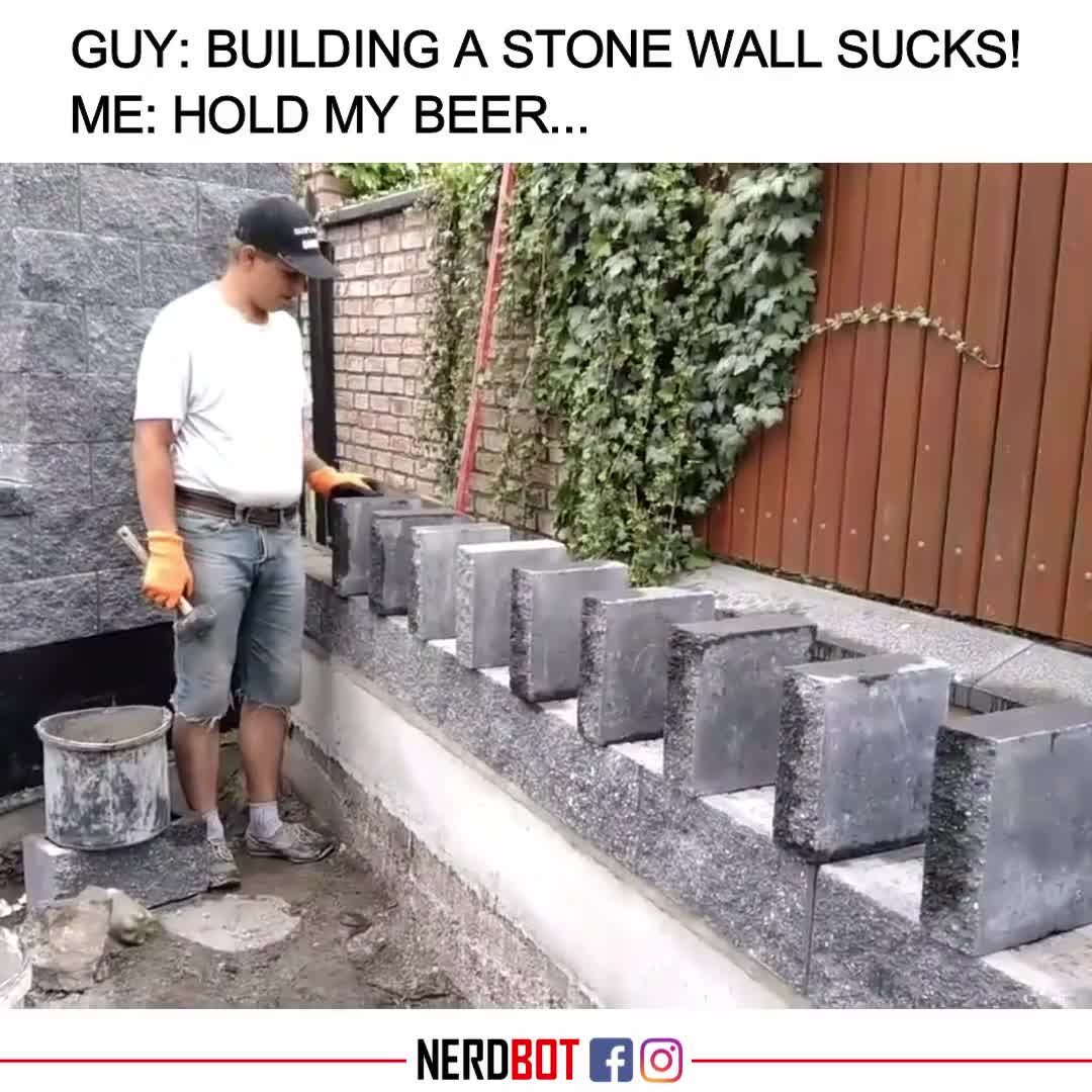 Stone wall domino effect