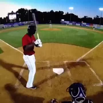 What a 96 mph fastball looks like coming towards your face