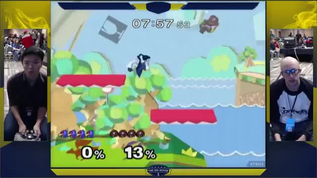 The fastest and cleanest stock I've ever seen a Samus take from a Falco (ESAM vs Zhu @TBH5)