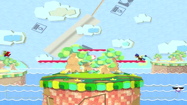 Falco platform movement tech on Yoshi's