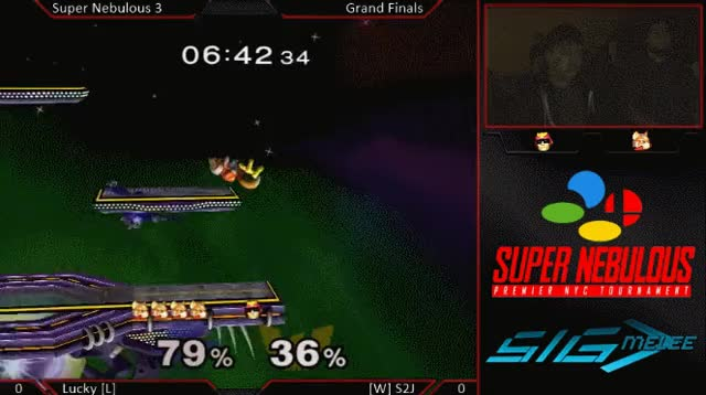 Lucky using first hit of Uair to extend combos