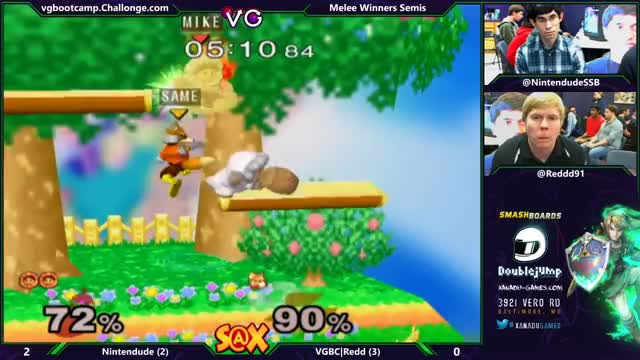 Nintendude Nana F-Smash to close out the set against Redd