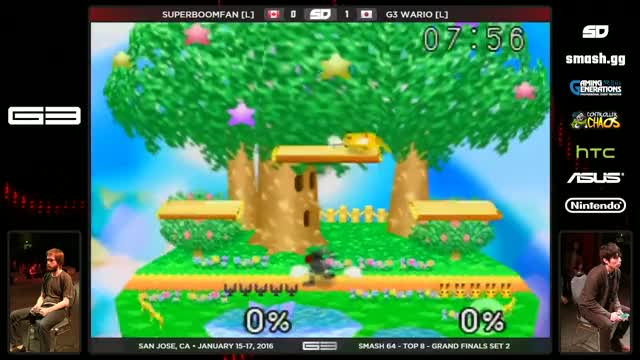 Wario gets a no tech slideoff, and SuPeRbOoMfAn does it right back