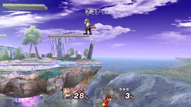 Using Fox's down throw as a meteor