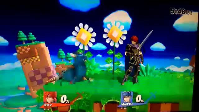 Roy's F-smash out-range's Marth's.