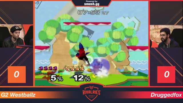 Westballz with some beautiful platform work against Druggedfox