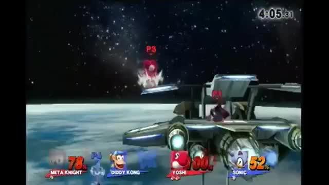Yoshi fair + Meta Knight fair = brawl shuttle loop