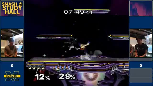 Insane marth combo into a double dip