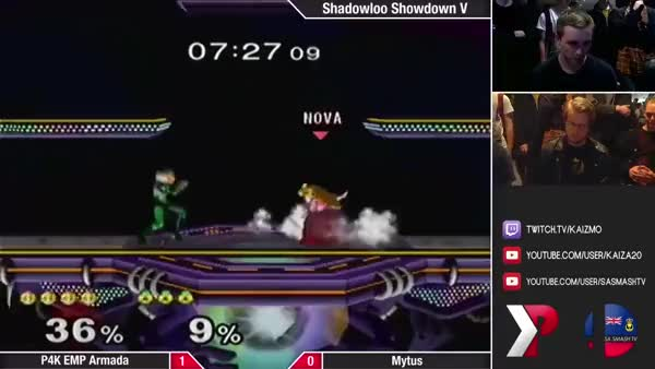 Armada's quadruple float canceled n-air on a Sheik