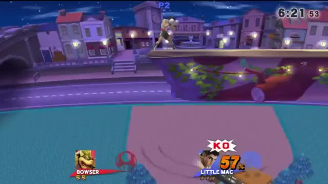 Sol completely KOs a Bowser