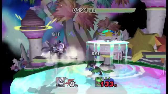 Wolf deftly handles Lucario's massive blue balls (x-post /r/ssbpm)