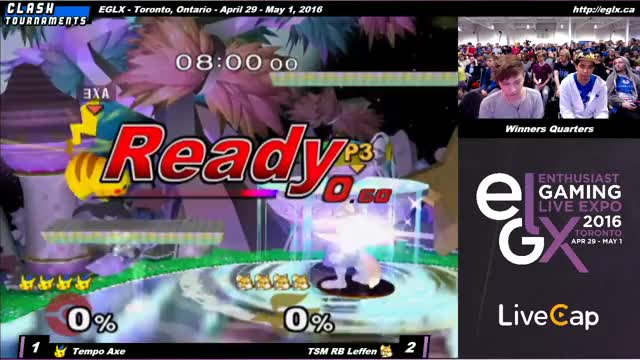 Axe's heart-stopping whiff punish against Leffen at EGLX.