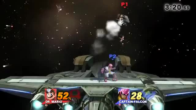 Doctor Mario sending Captain Falcon straight to hell.