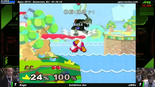 Amsa turning an edgeguard situation into a crafty stock on Kage