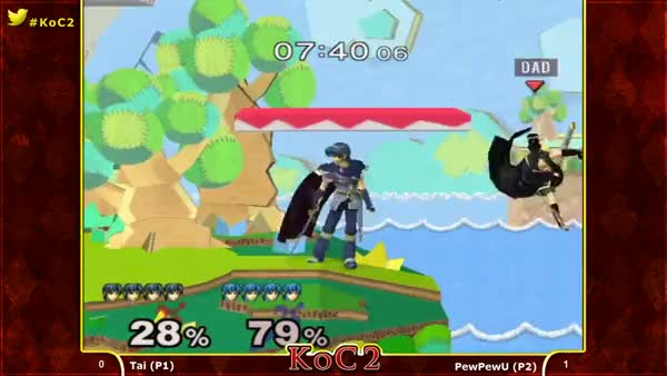 [Marth] PewPewU won't let Tai recover.