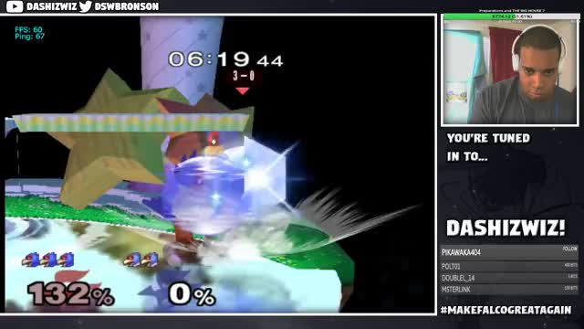DaShizWiz plants a seed in Falco's feathers