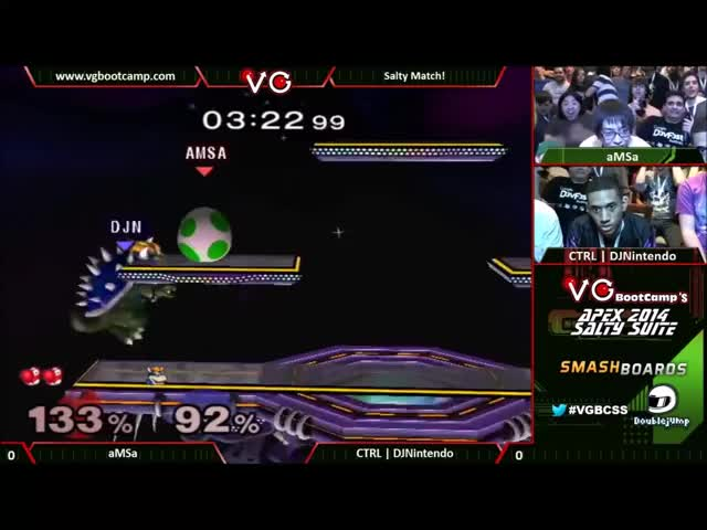 [Yoshi] aMSa gets a shield drop and then destroys DJNintendo