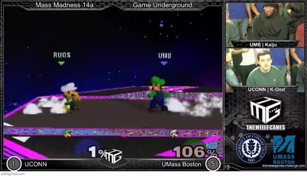 Kaiju Ending TheMeleeGames UMB vs UConn game with style
