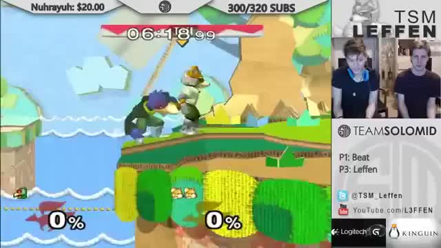 Leffen's multi-shine shield break