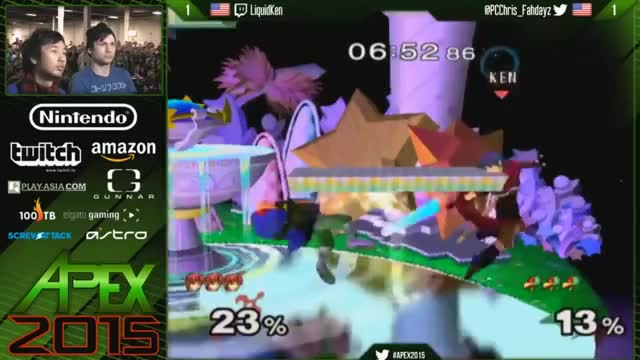 PC Chris punishes Ken's counter with a nutty platform combo