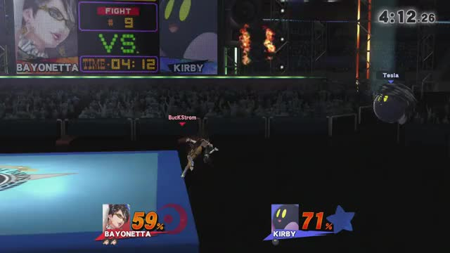 Bayonetta can double wall jump on Omega Boxing Ring even after exhausting all recovery options