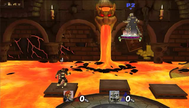 Bug- a Ganon in the player 2 spawn position can fall through the floor on Competitive Bowser's Castle