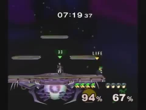 Marth Denies Luigi's Combo With A Well Timed Dair