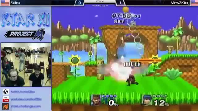 Mew2King's 0 to 95% combo on Rolex