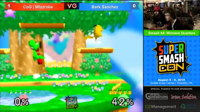 Bark Sanchez lays the SmashDown on Wizzrobe
