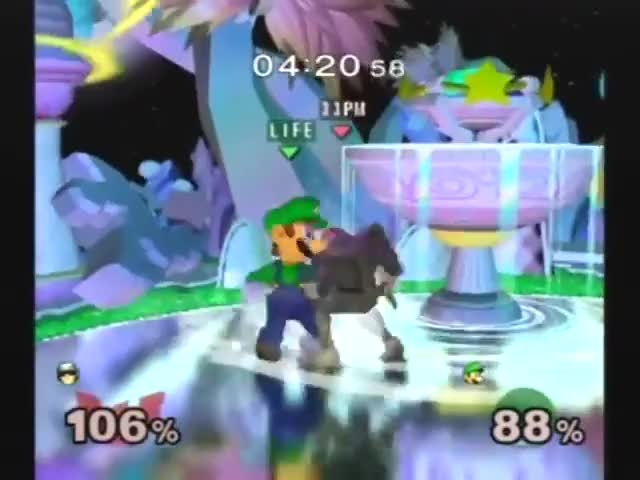 Luigi Pulls Out The Heat Seeking Missile To Win The Match
