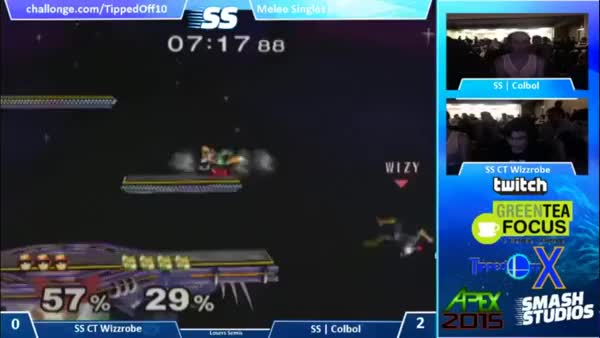 Colbol's Up-B Combo on Wizzrobe (Tipped Off 10)
