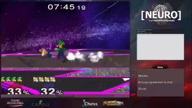 Luigi's 12% jab reset.