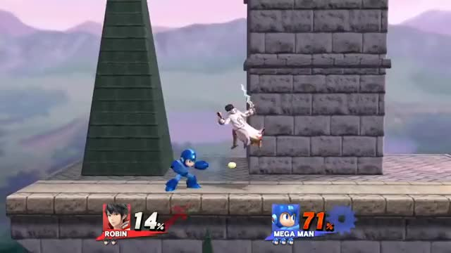 Stagespike -> Footstool -> Elwind combo, using Megaman's weapons against him