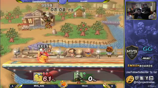 Axe's Precise Offstage Play Silences Yet Another Wolf (X-Post r/Smashbros)