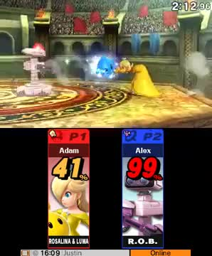 So, I made a crazy play as Rosalina yesterday, and thought I'd share. (Sorry for 3DS quality)