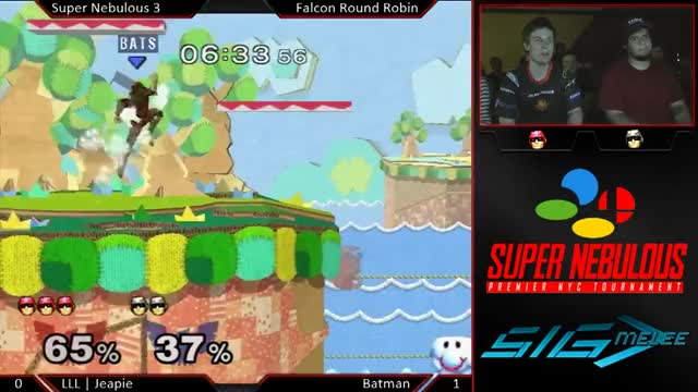 Jeapie Earning The Airhorn With A Reverse-Edgeguard.