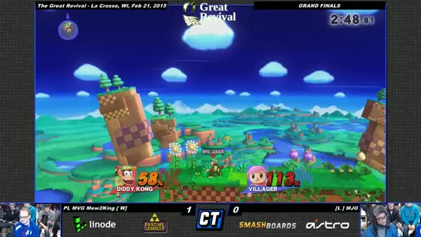 MJG [Villager] with an insane kill on Mew2King [Diddy] in Grand Finals at Great Revival
